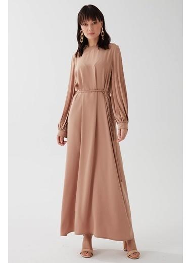 Vivencia Kolları Pile Detaylı Kadın Elbise Somon Somon